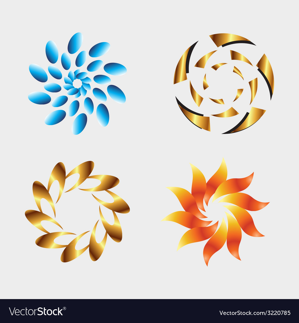 Graphic elements logo design with round and swirl vector | Price: 1 Credit (USD $1)