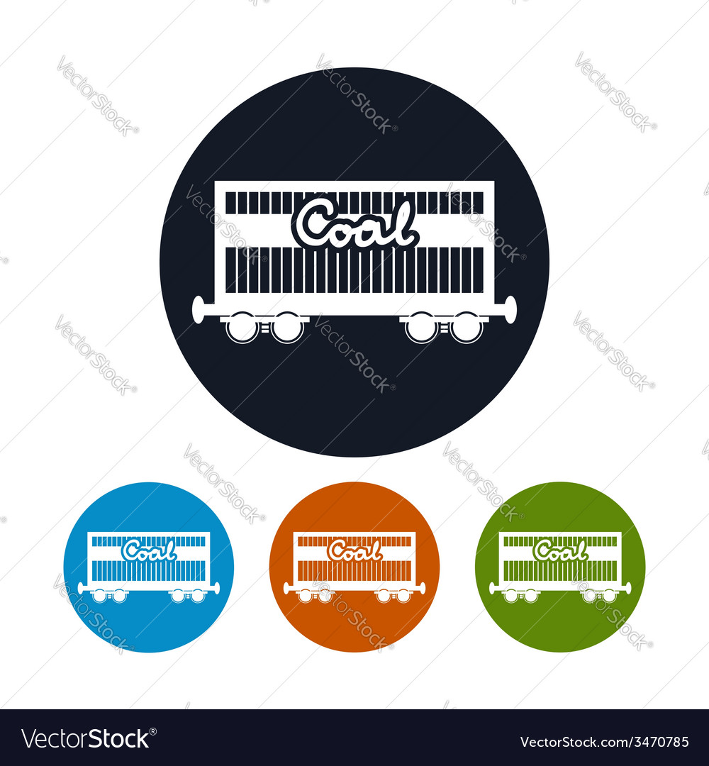 Icon the railway freight car for coal vector | Price: 1 Credit (USD $1)