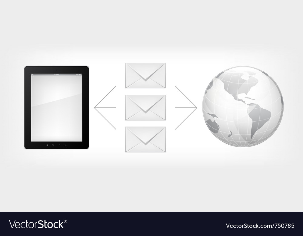 Mail concept tablet pc vector | Price: 1 Credit (USD $1)