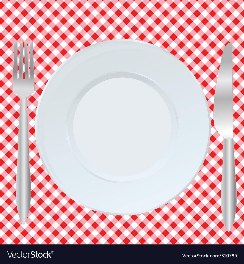 Plate fork and spoon vector | Price: 1 Credit (USD $1)