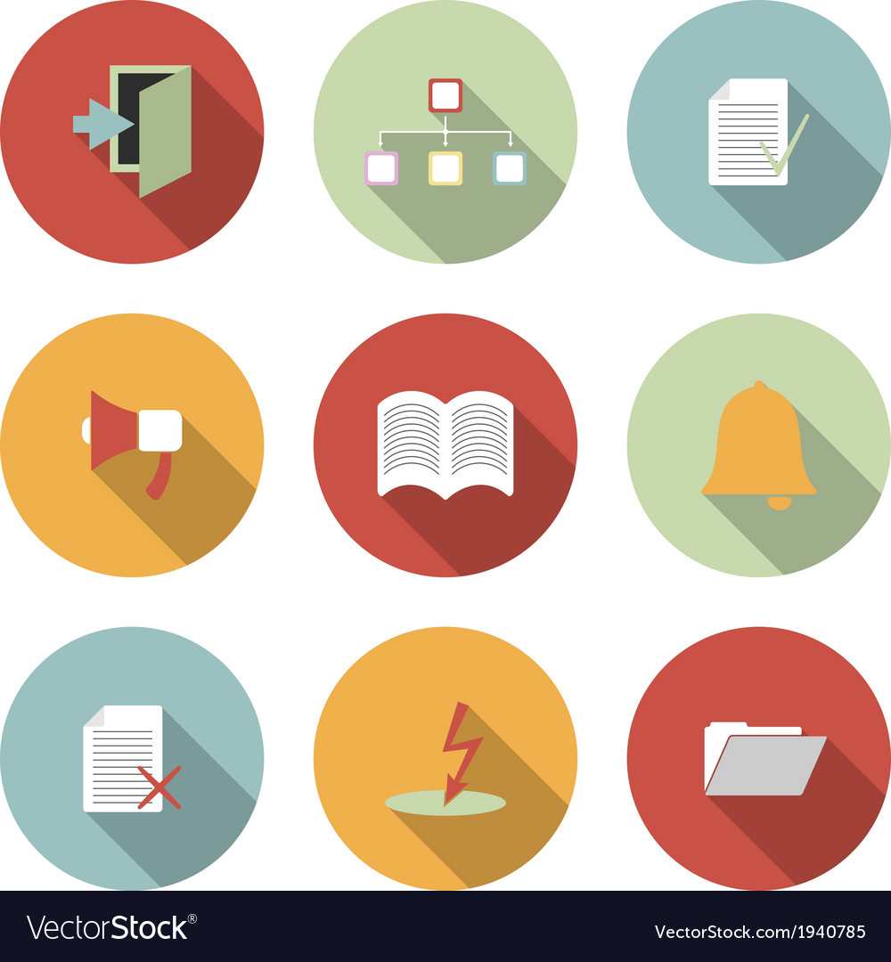 Universal flat icons vector | Price: 1 Credit (USD $1)