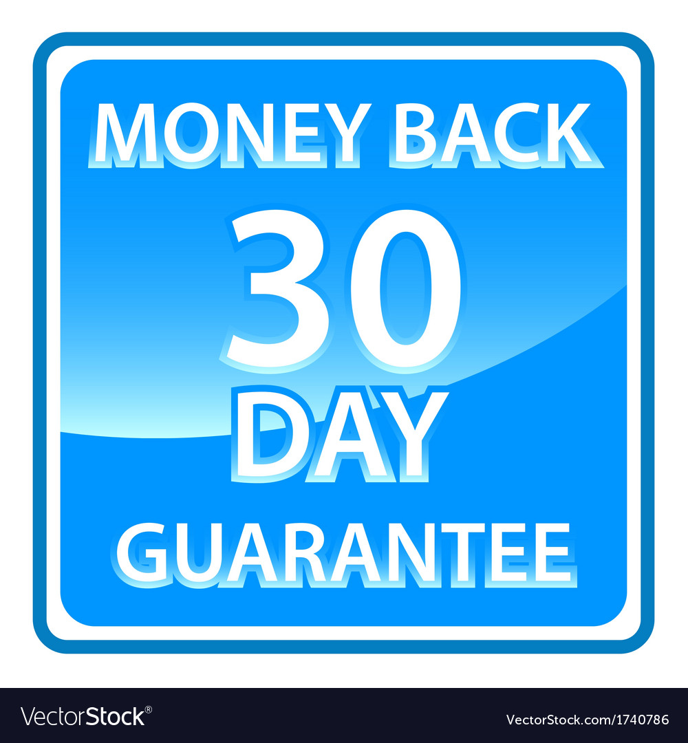 30 days money back guarantee vector | Price: 1 Credit (USD $1)