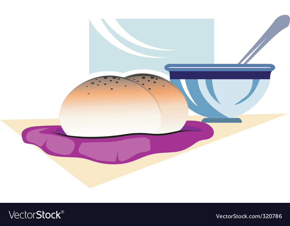 Bun and soup vector | Price: 1 Credit (USD $1)