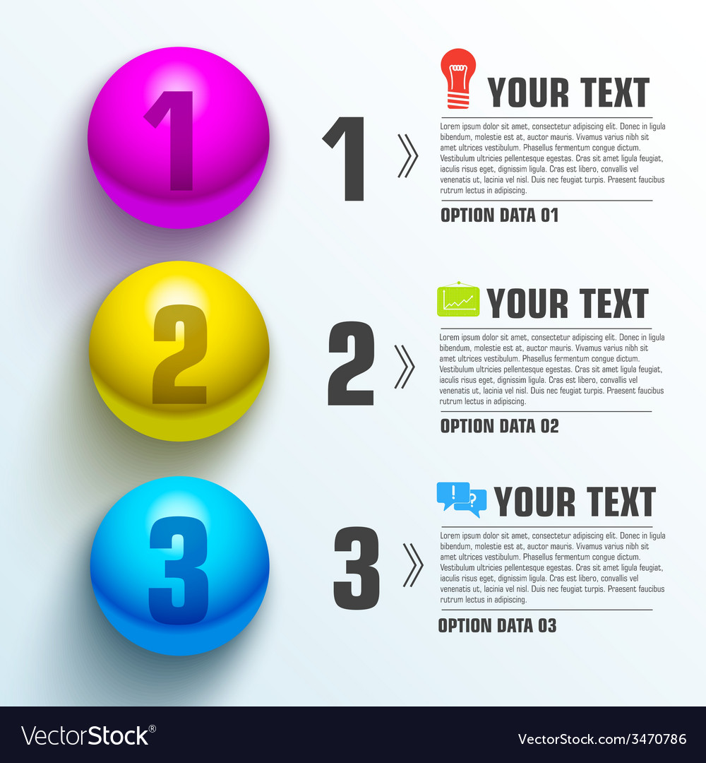 Business sphere infographic template with text vector | Price: 1 Credit (USD $1)