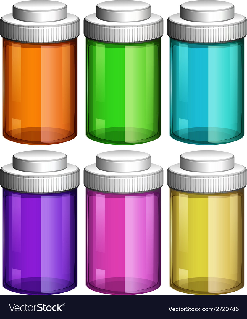 Colourful transparent bottles vector | Price: 1 Credit (USD $1)