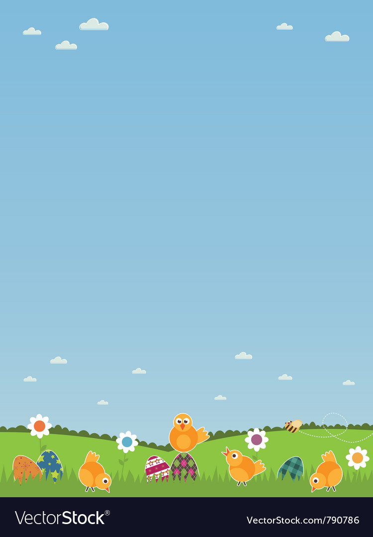 Easter landscape vector | Price: 1 Credit (USD $1)