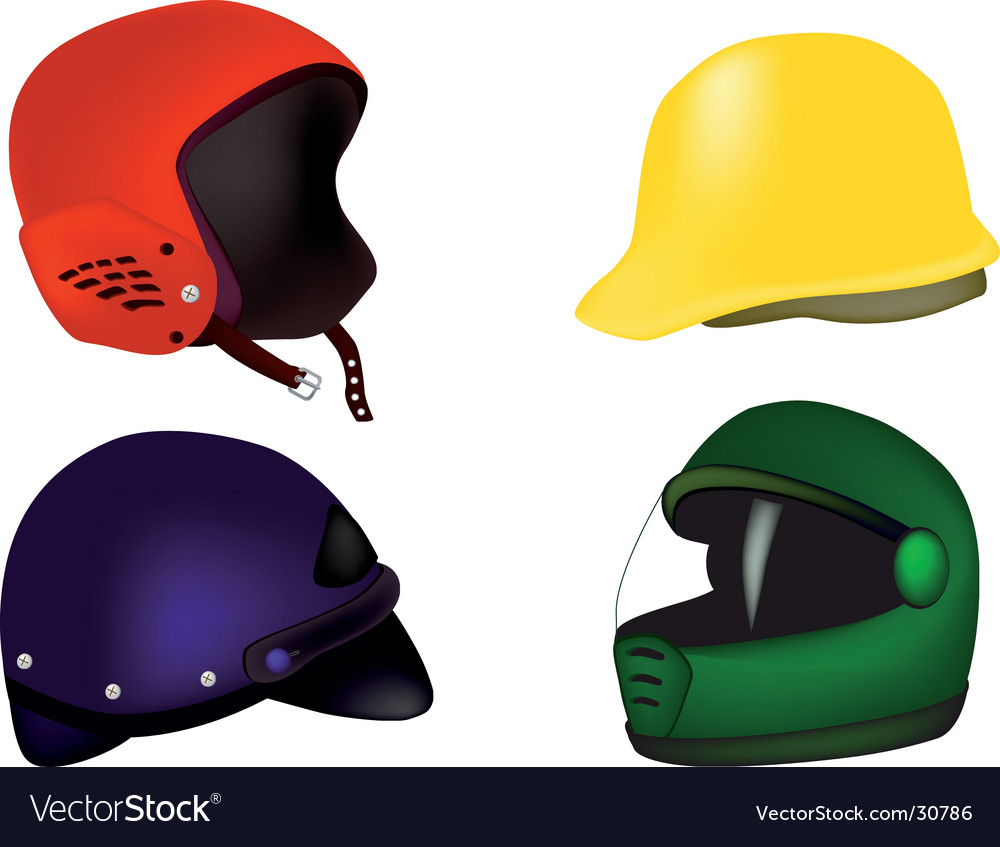Helmets for a motorcycle vector | Price: 1 Credit (USD $1)