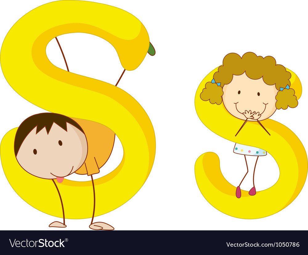 Kids in the letters series vector   Price: 1 Credit (USD $1)