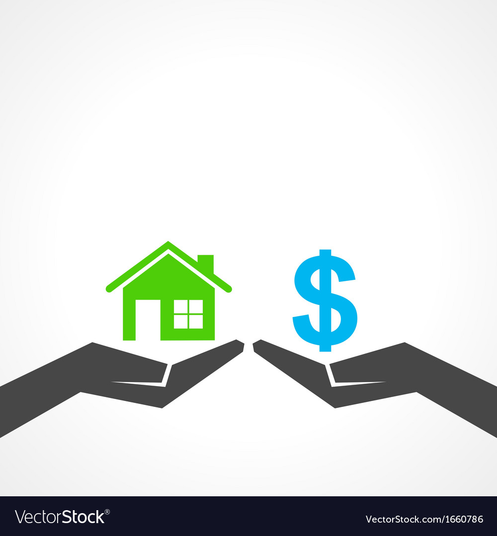 Save home and money concept vector | Price: 1 Credit (USD $1)
