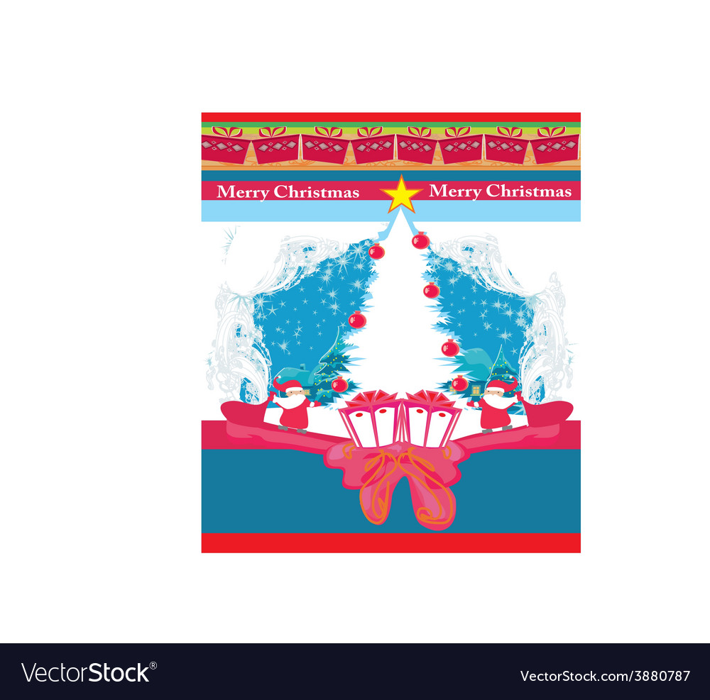 Abstract christmas card with santa claus and vector | Price: 1 Credit (USD $1)