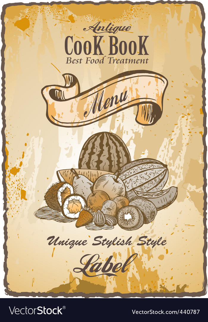 Antique vintage label vector | Price: 3 Credit (USD $3)