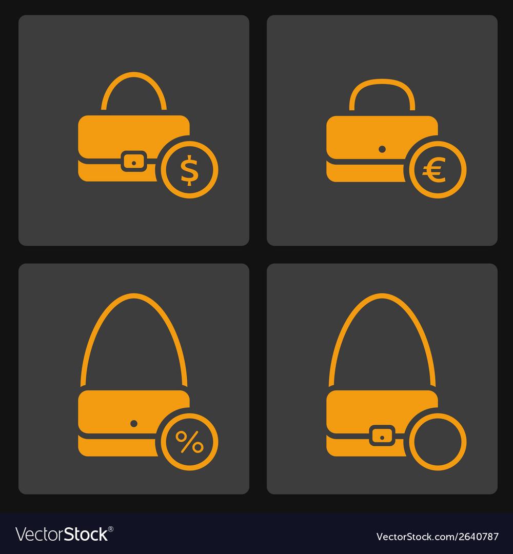 Bag icons set vector | Price: 1 Credit (USD $1)