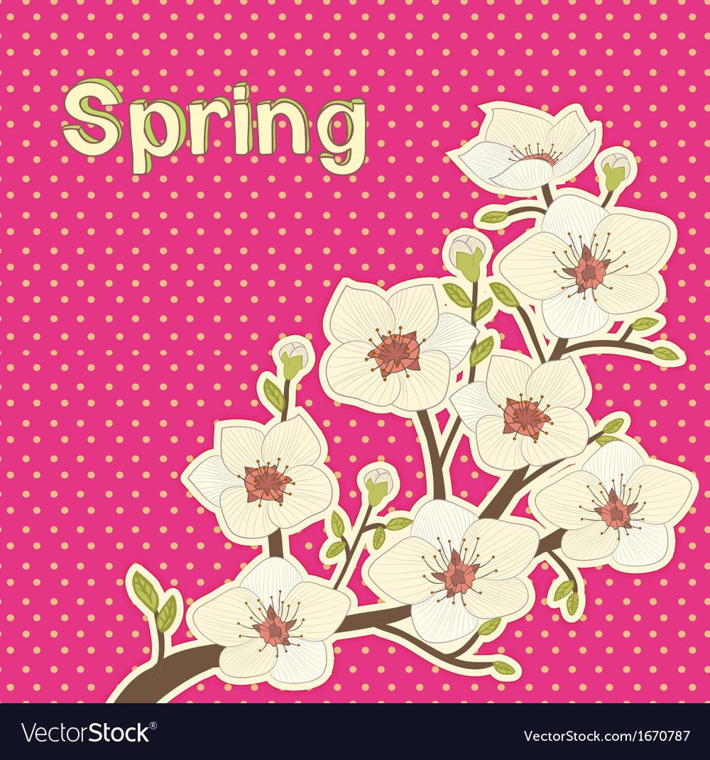 Blooming tree vector | Price: 1 Credit (USD $1)