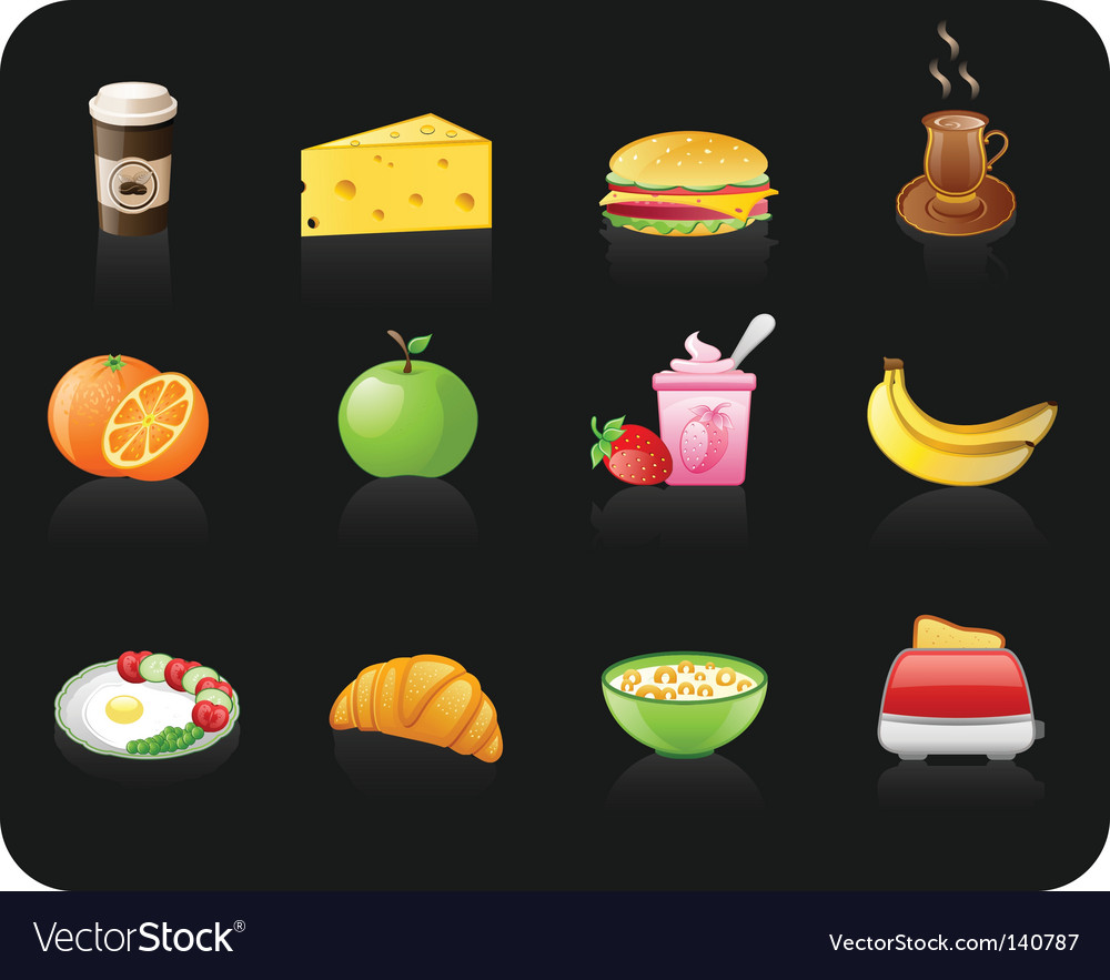 Breakfast black vector | Price: 1 Credit (USD $1)