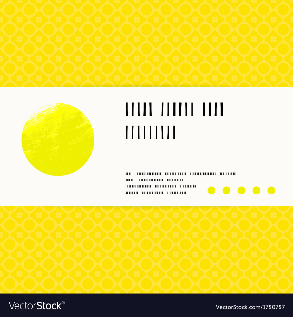 Card with watercolour circle in yellow vector | Price: 1 Credit (USD $1)