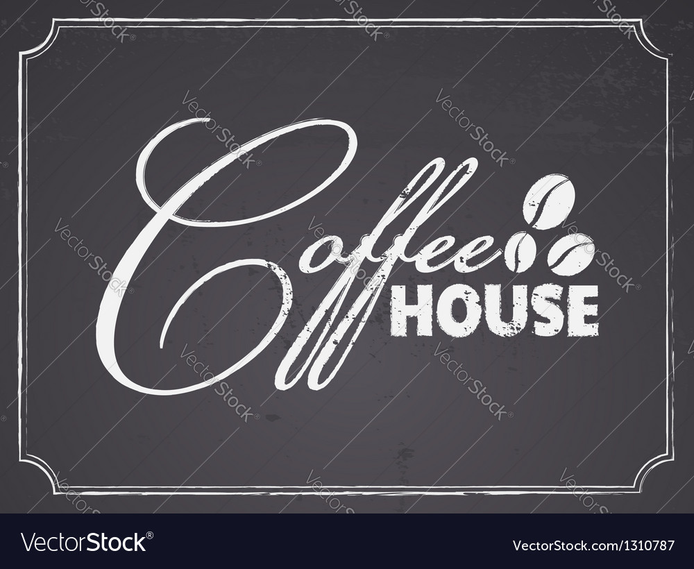 Chalkboard coffee house design vector | Price: 1 Credit (USD $1)