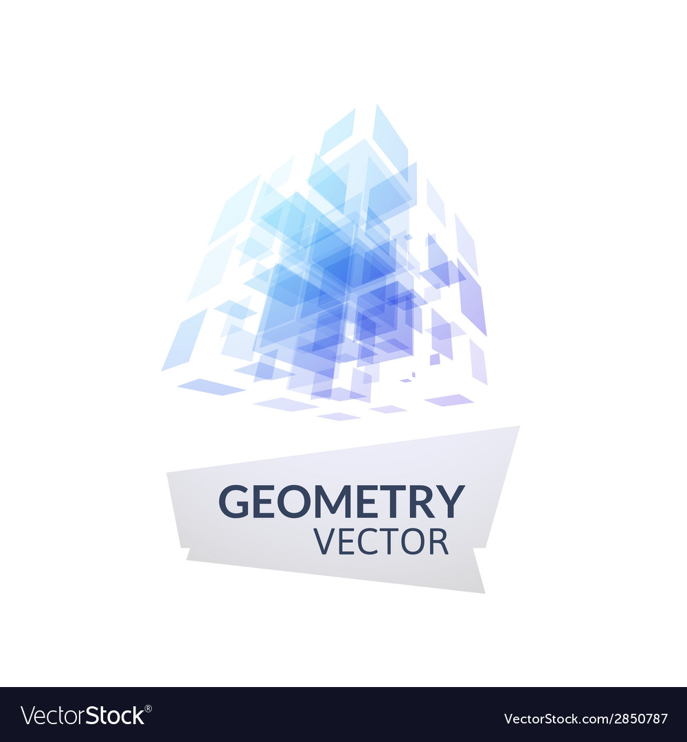 Cube geometry construction icon vector | Price: 1 Credit (USD $1)