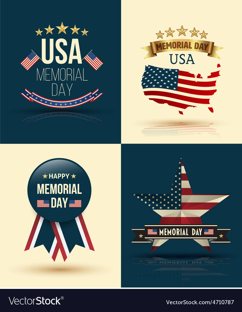 Happy memorial day vector | Price: 1 Credit (USD $1)