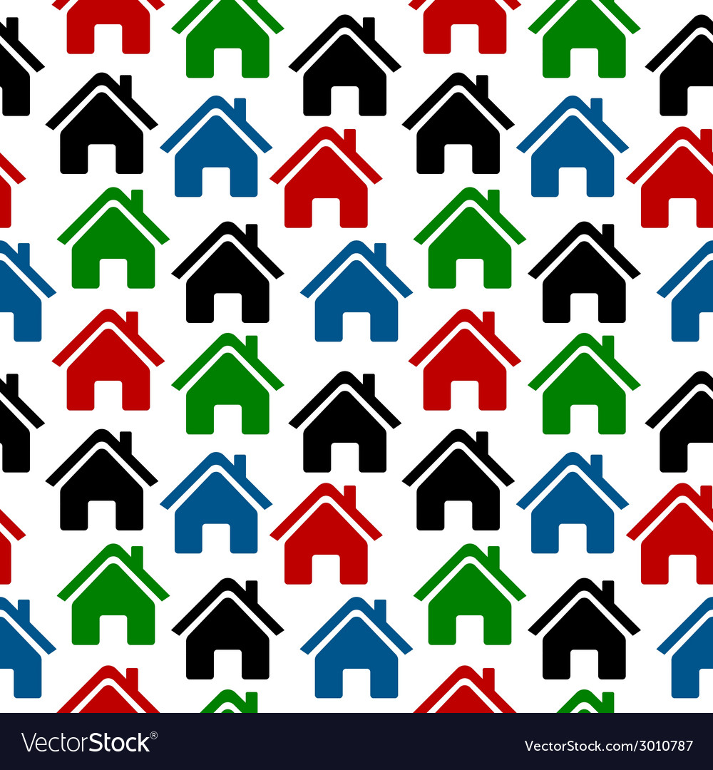 Home icon seamless pattern vector | Price: 1 Credit (USD $1)
