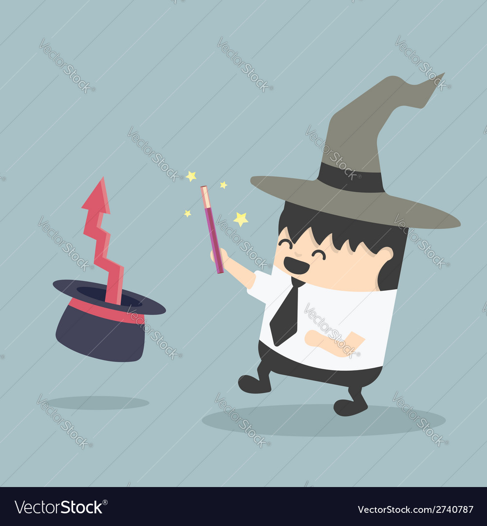 Magic businessman vector | Price: 1 Credit (USD $1)