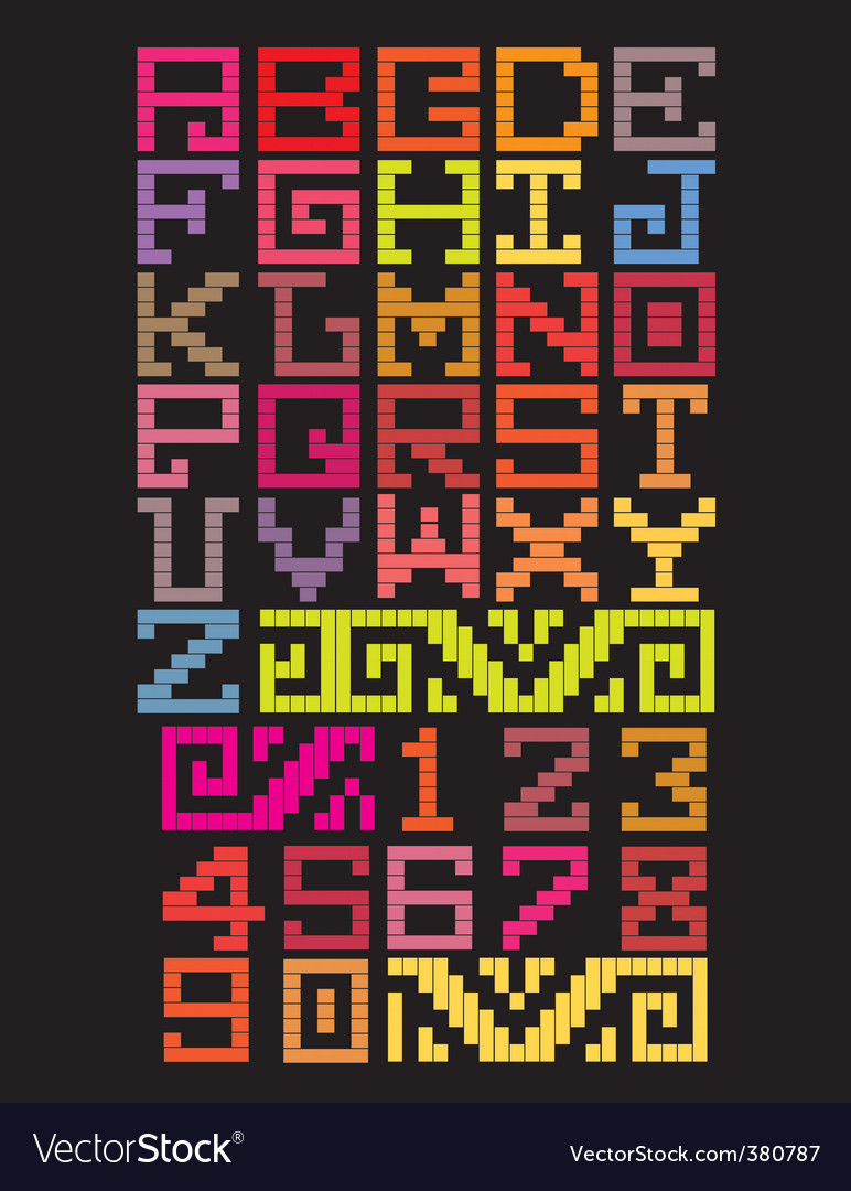 Mayan alphabet style vector | Price: 1 Credit (USD $1)