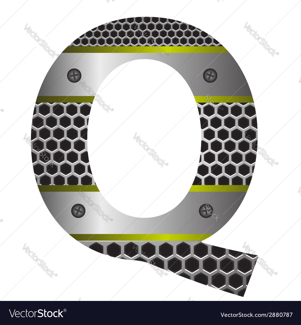 Perforated metal letter q vector | Price: 1 Credit (USD $1)