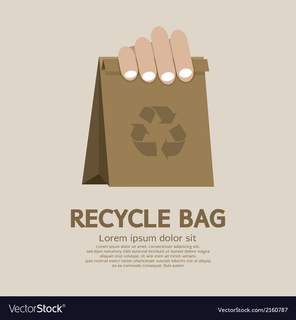 Recycle bag vector | Price: 1 Credit (USD $1)