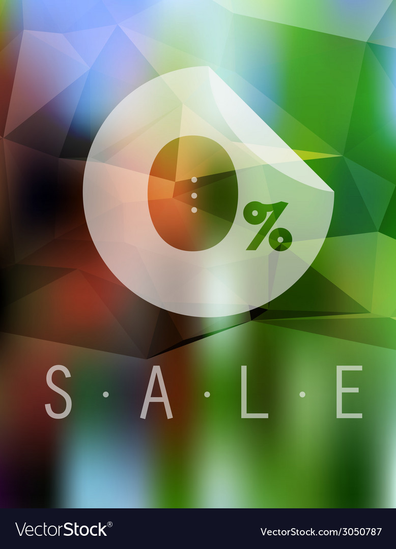 Sale discount 0 button on blurred background vector | Price: 1 Credit (USD $1)
