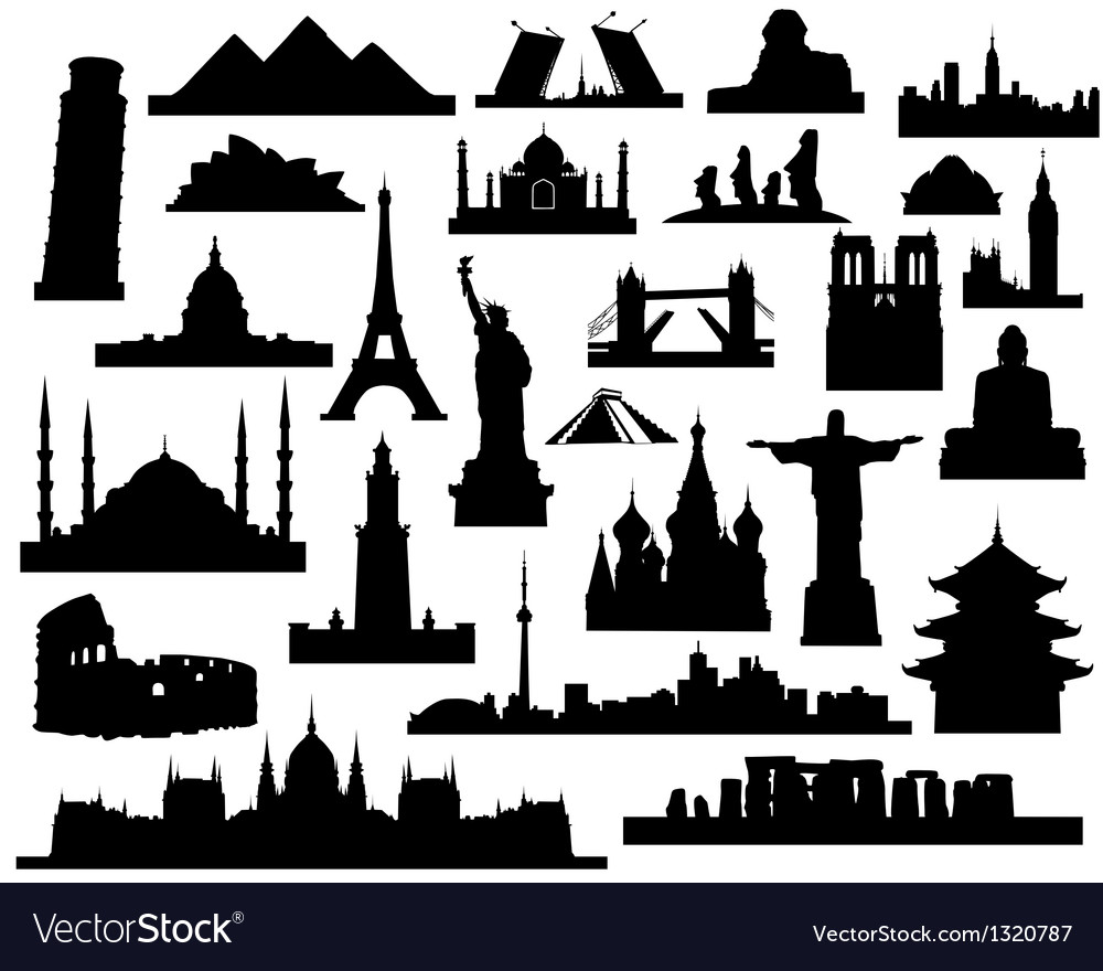 Sights of the world vector | Price: 1 Credit (USD $1)