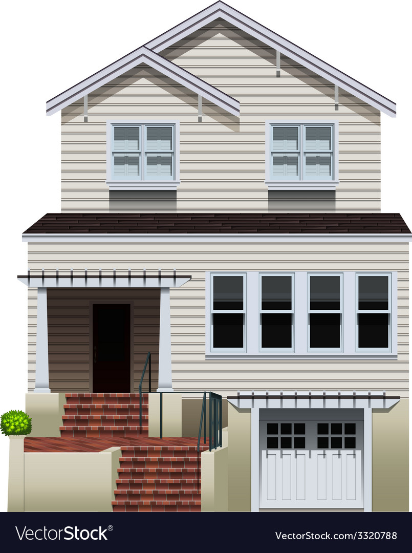 A big concrete house vector | Price: 1 Credit (USD $1)