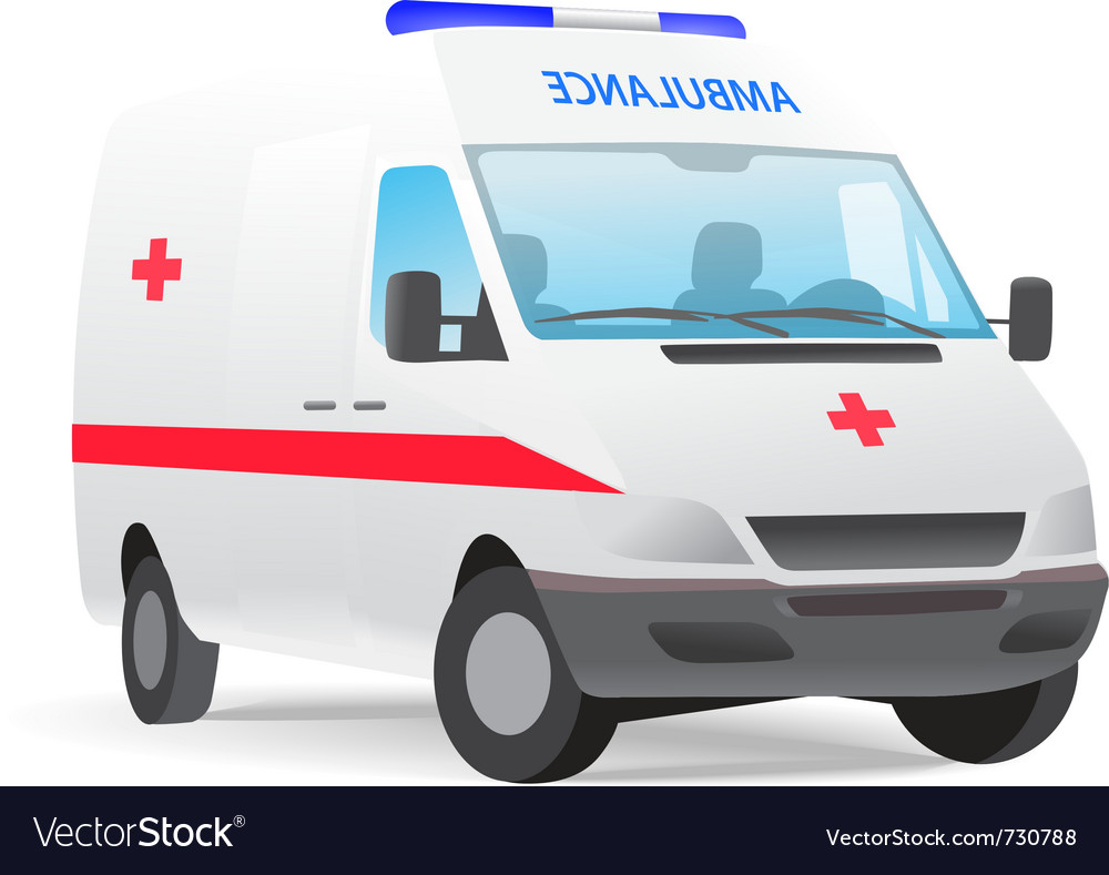 Ambulance van with red cross vector | Price: 1 Credit (USD $1)