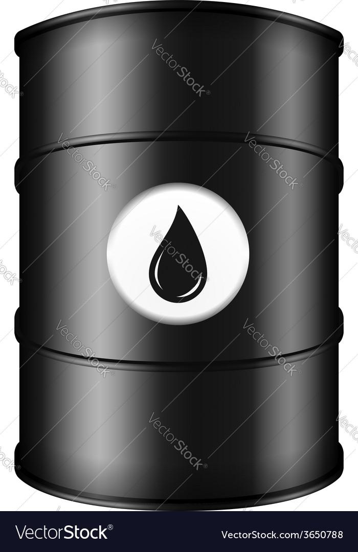Black oil barrel vector   Price: 1 Credit (USD $1)