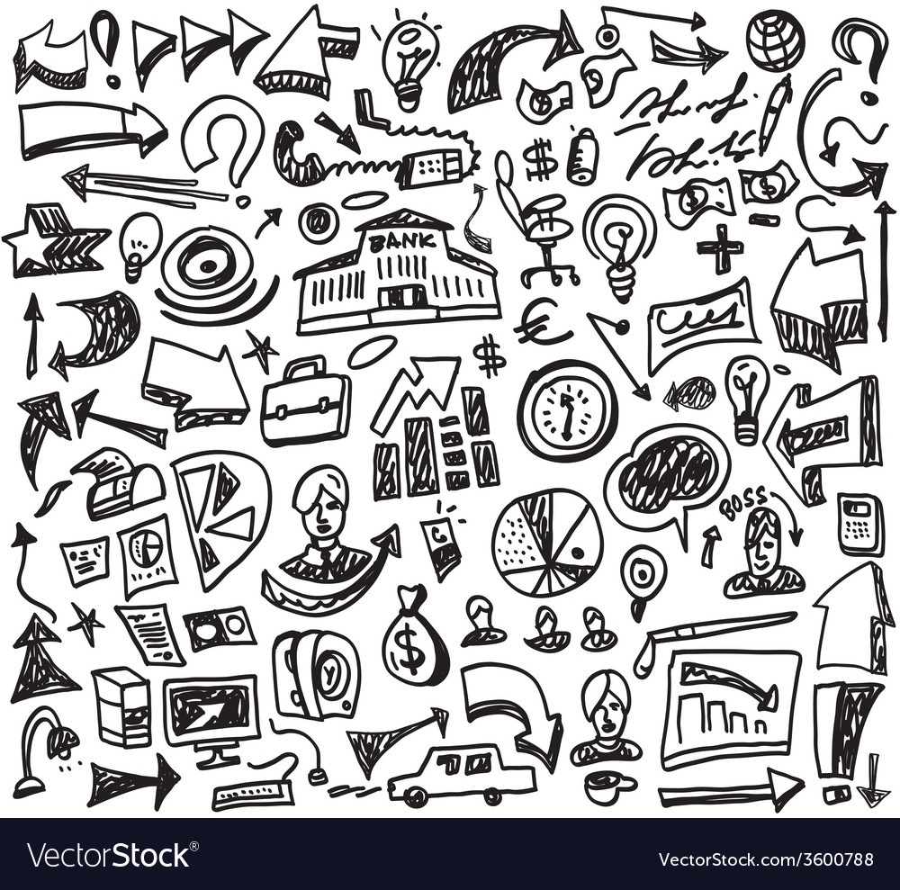 Business doodles vector | Price: 1 Credit (USD $1)