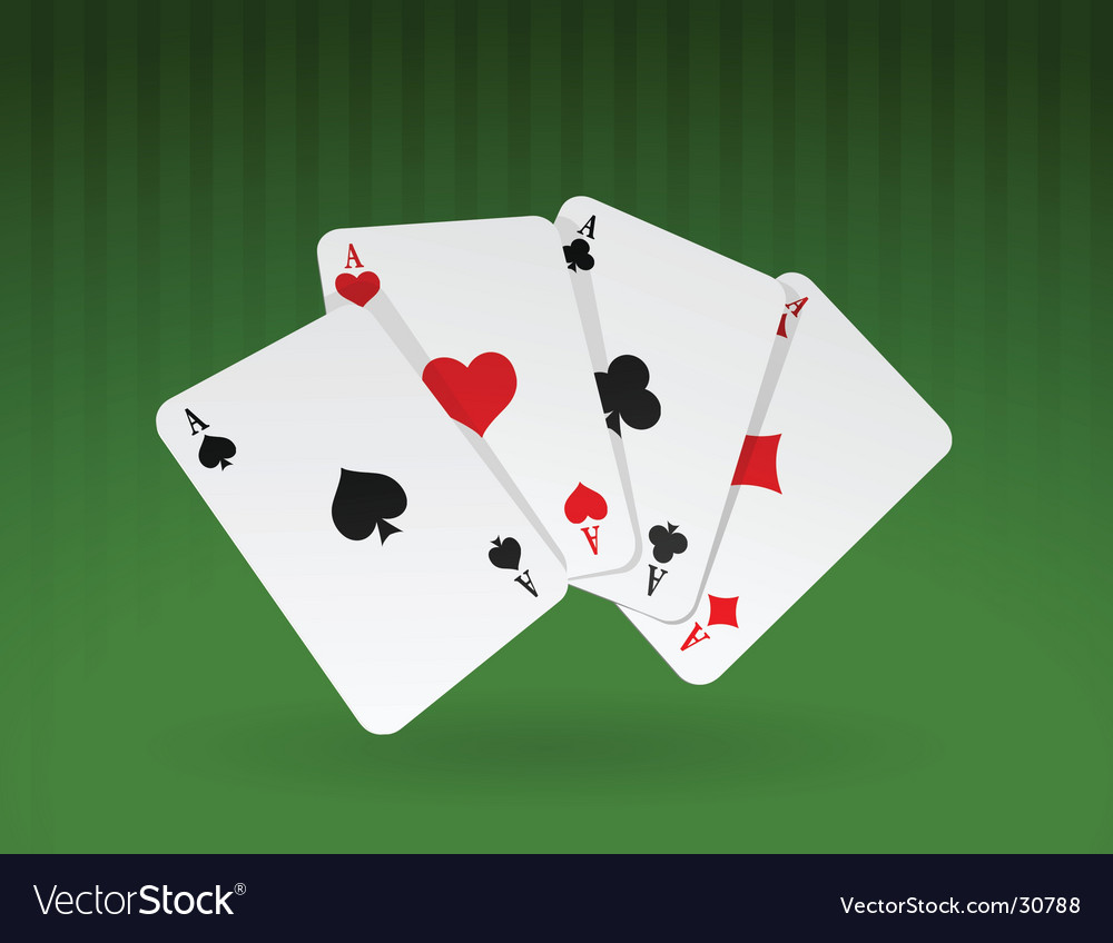Cards on green background vector | Price: 1 Credit (USD $1)