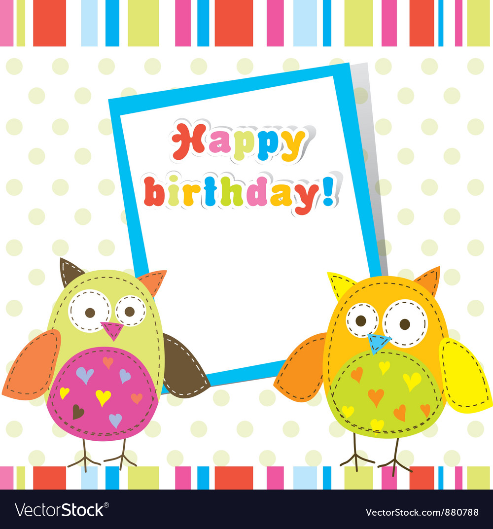 Children birthday card vector | Price: 1 Credit (USD $1)