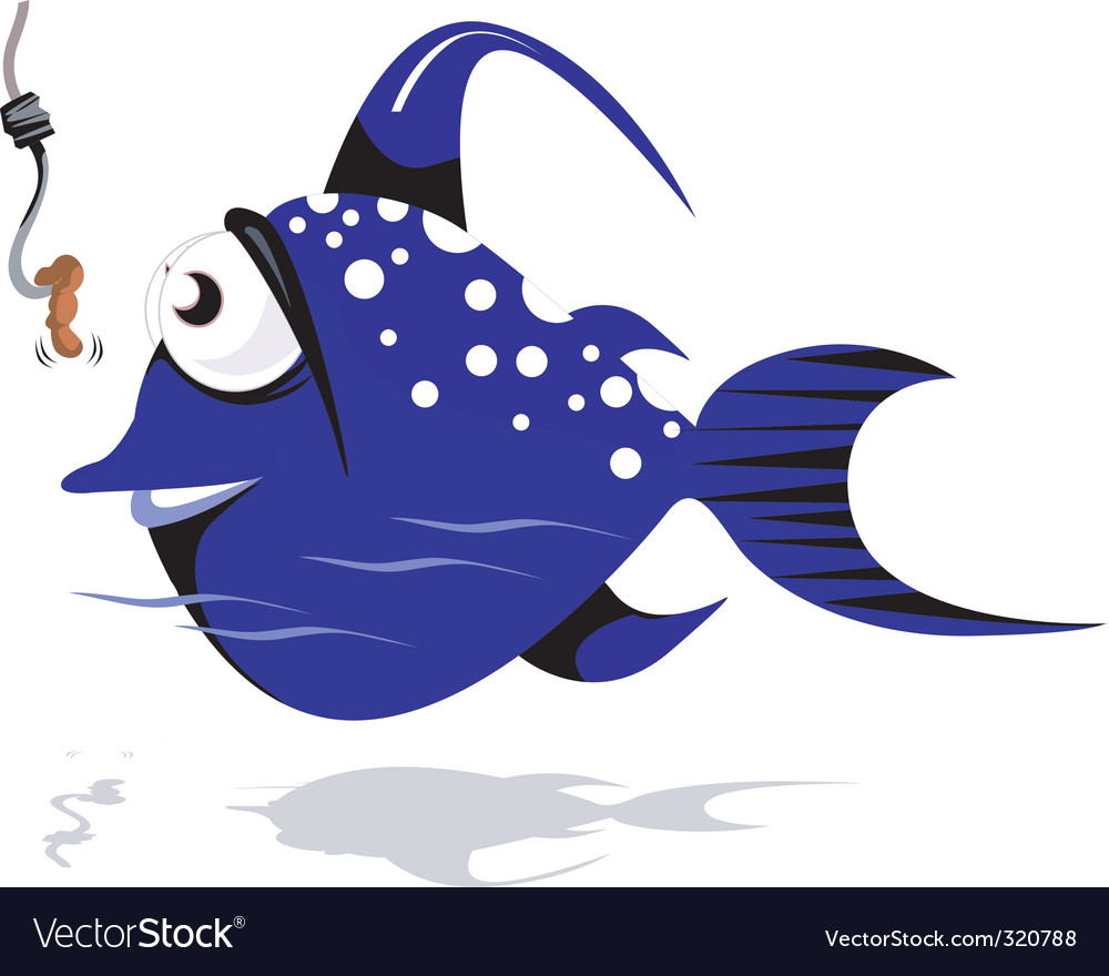 Fish cartoon vector | Price: 1 Credit (USD $1)