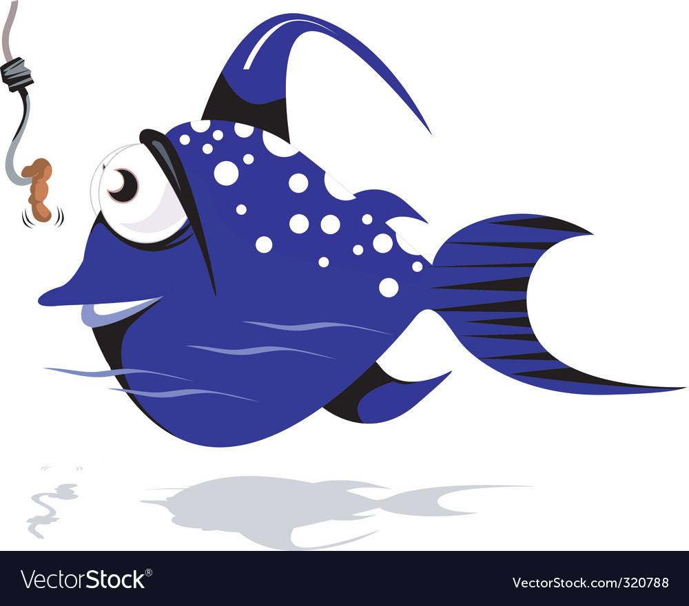 Fish cartoon vector | Price: 1 Credit (USD $1)