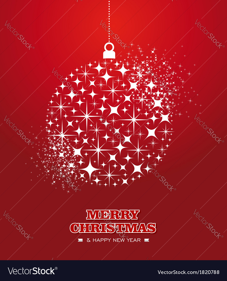 Merry christmas and happy new year stars bauble vector   Price: 1 Credit (USD $1)