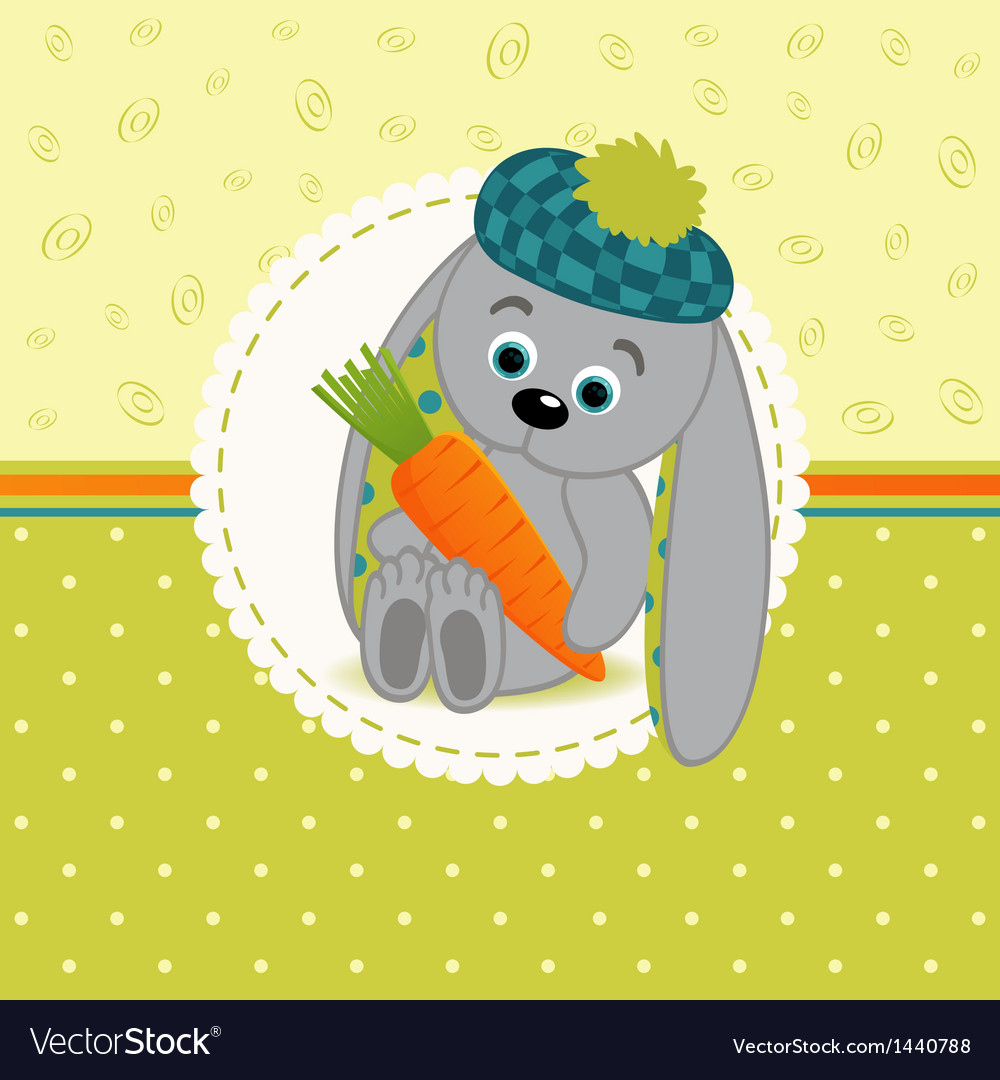 Rabbit with carrots vector | Price: 3 Credit (USD $3)