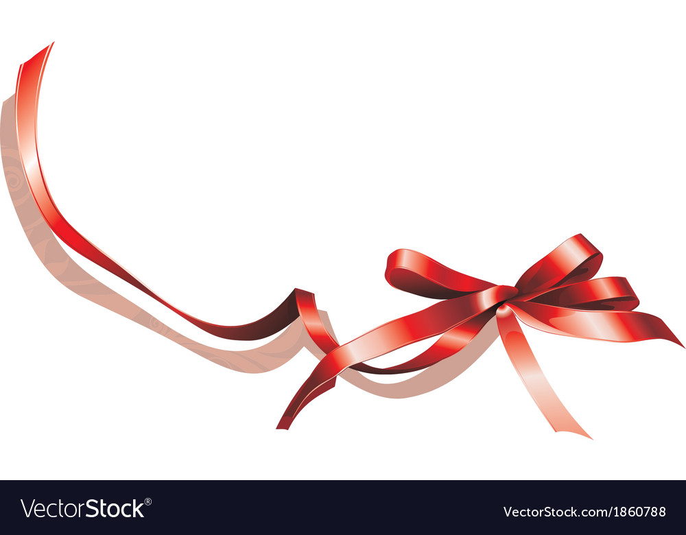 Red gift bow vector | Price: 1 Credit (USD $1)