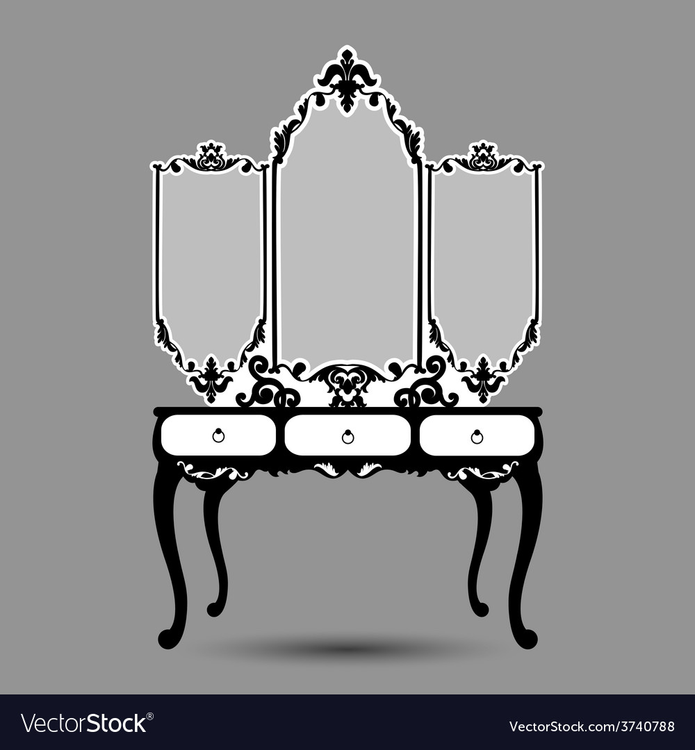 Silhouette of console mirror vector | Price: 1 Credit (USD $1)