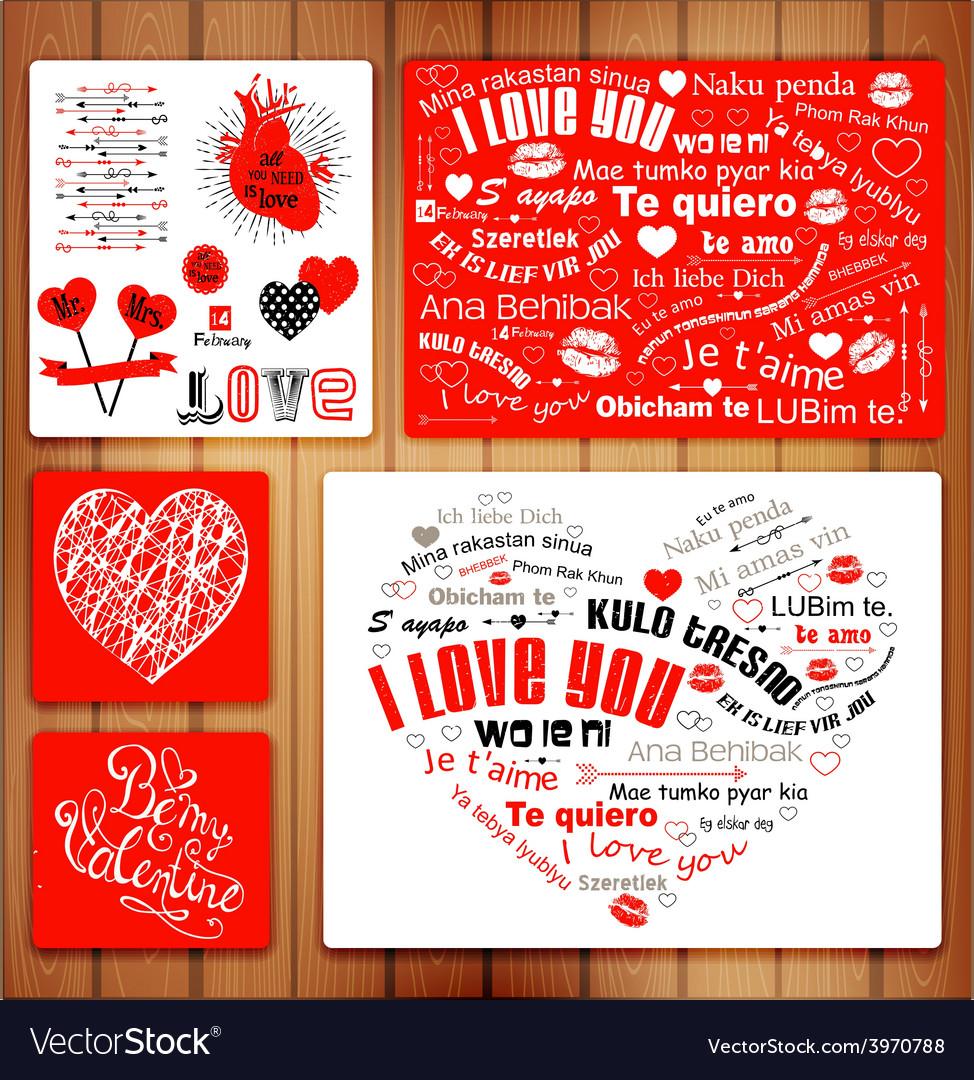 Valentine letterpress card vector | Price: 1 Credit (USD $1)