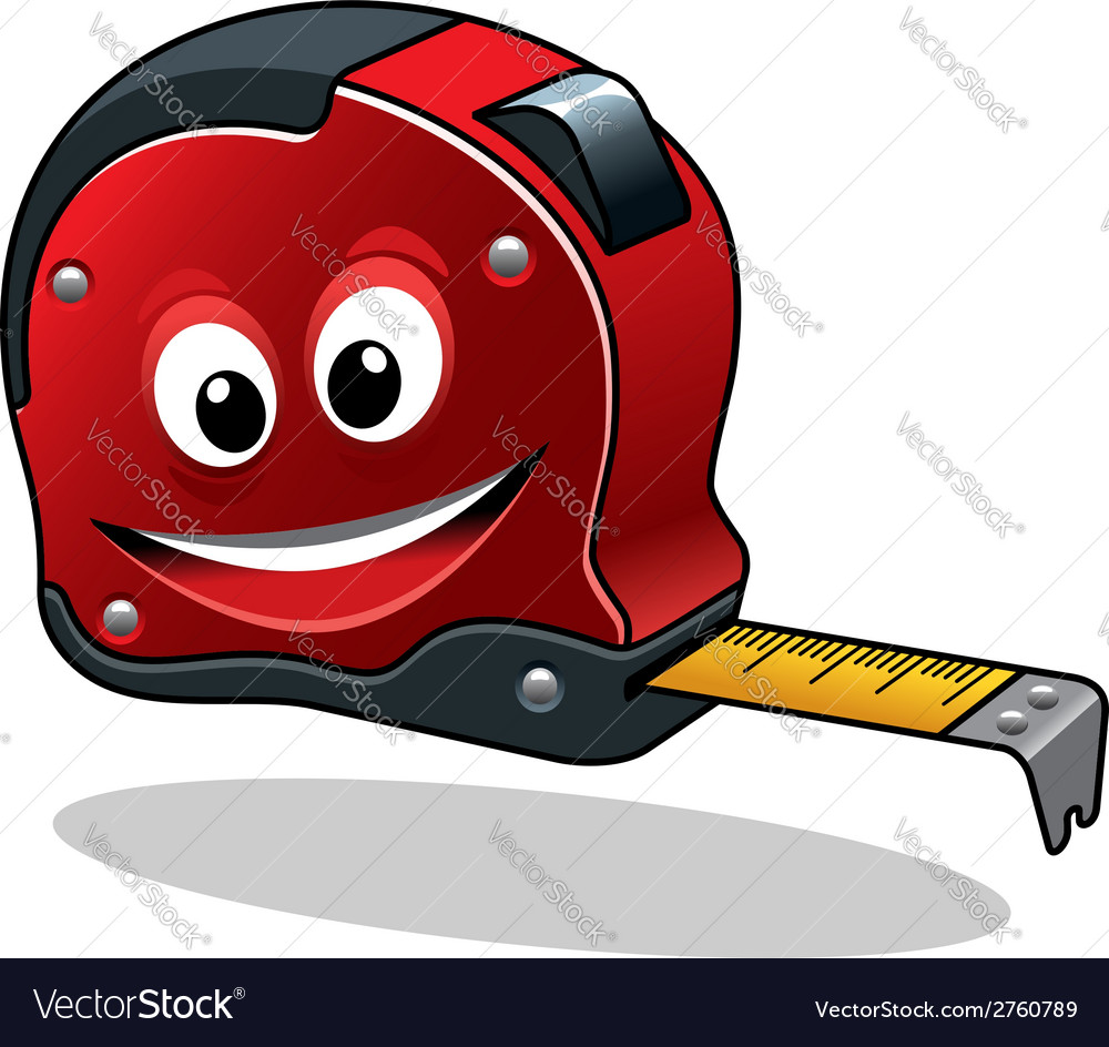 Cartoon measuring tape vector | Price: 1 Credit (USD $1)