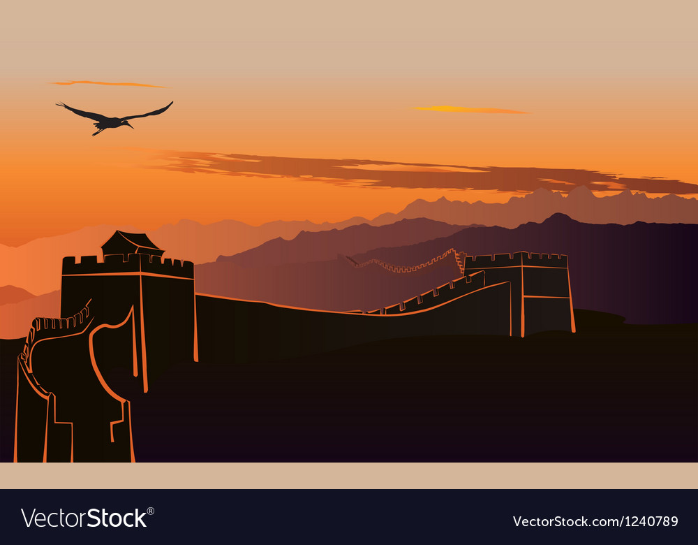 China great wall vector | Price: 1 Credit (USD $1)