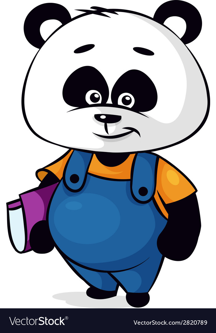 Clever panda vector | Price: 1 Credit (USD $1)