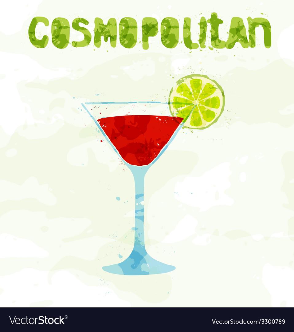 Cosmopolitan cocktail vector | Price: 1 Credit (USD $1)