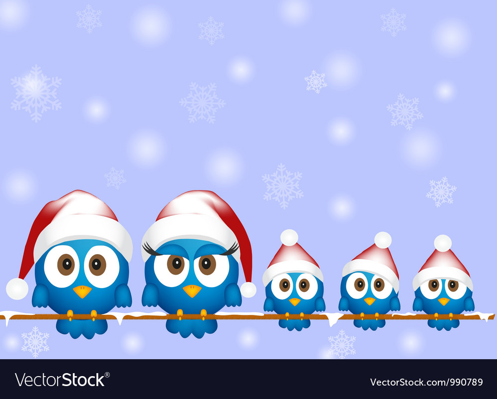 Cute christmas birds vector | Price: 1 Credit (USD $1)