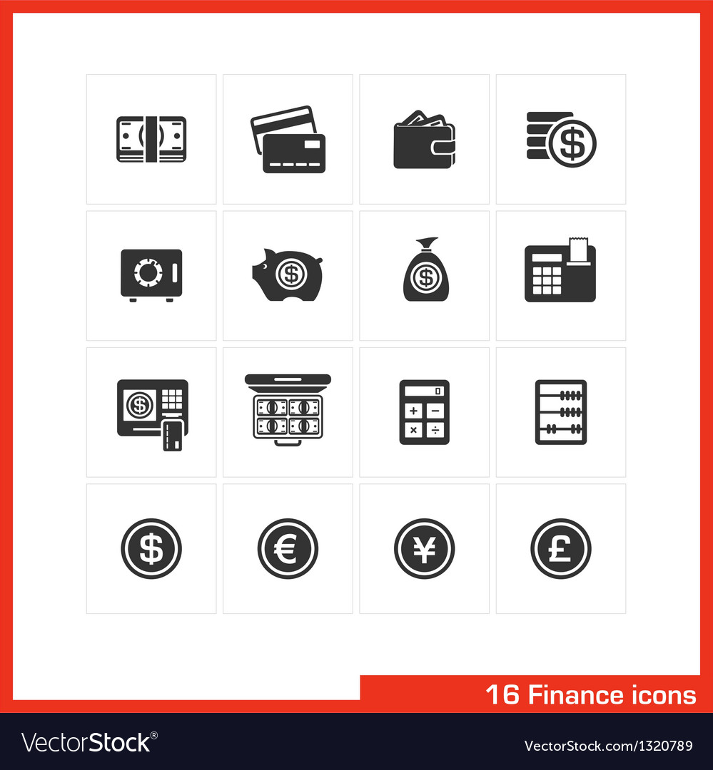 Finance icon set vector | Price: 1 Credit (USD $1)