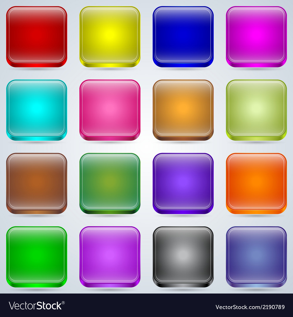 Glass buttons collection vector | Price: 1 Credit (USD $1)