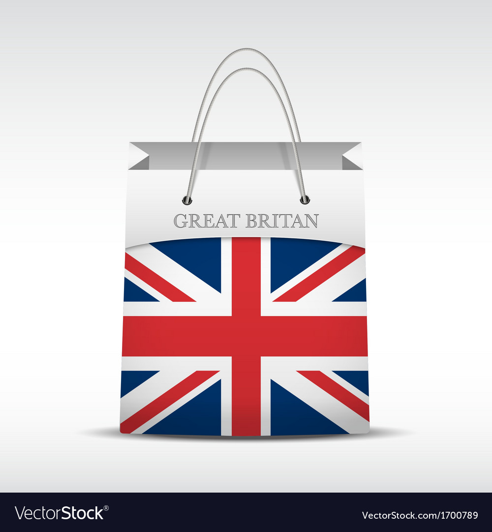 Shopping bag with british flag vector | Price: 1 Credit (USD $1)